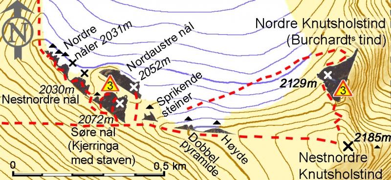 Kart Knutseggen/Knutseggi