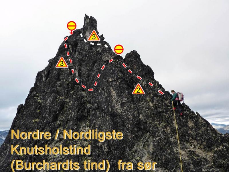 Nordre/Nordligste Knutsholstind fra sør