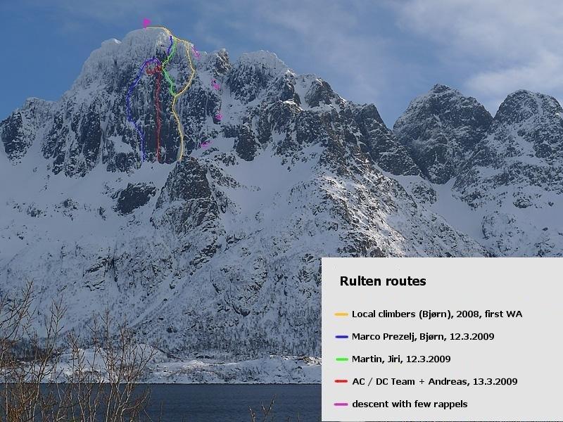 """""""The Bullocks"""" is the Marco Prezelj & Bjørn Eivind route"""