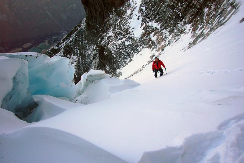 Halfway up the glacier