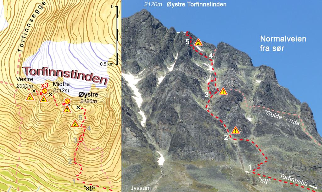 2 Bilde og kart Torfinnstind ny 11,5cm 06