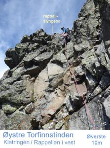 4 Torfinnstind Øystre klatring fra vest rute 6cm detalj 03 tekst